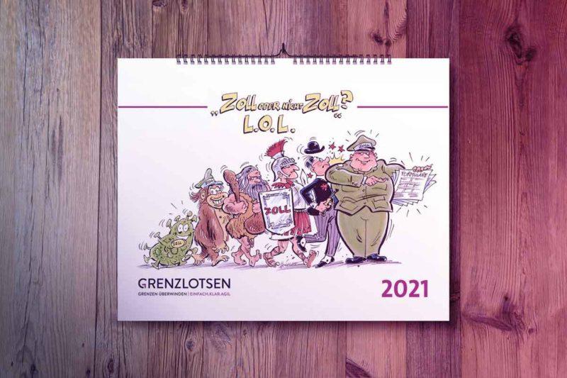 Zollkalender für das Jahr 2021 mit der Aufschrift Zoll oder nicht Zoll?